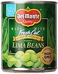 Made with Fresh Cut green lima beans. No preservatives. Packed from fresh lima beans. Del Monte Green Lima Beans are picked fresh at the peak of flavour, then packed fresh to lock in their rich, tender taste.