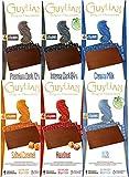 Guylian Schokolade 6er Set - belgische Schokolade - Vollmilch, Milch gesalzenes Karamell, Haselnuss, Zartbitter 72%, 84% Kakao - Schokoladentafel Chocolate Bars - (6x100g)