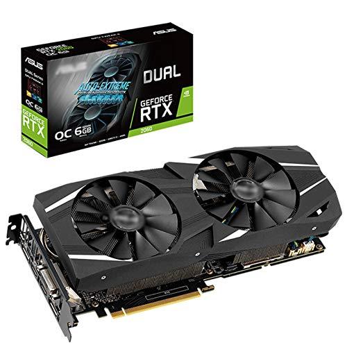 LYEJFF Doble-GeForce RTX2060-O6G-EVO DDR6 6GB 192bit Rendimiento del Juego Tarjeta de gráficos con Ventilador de refrigeración