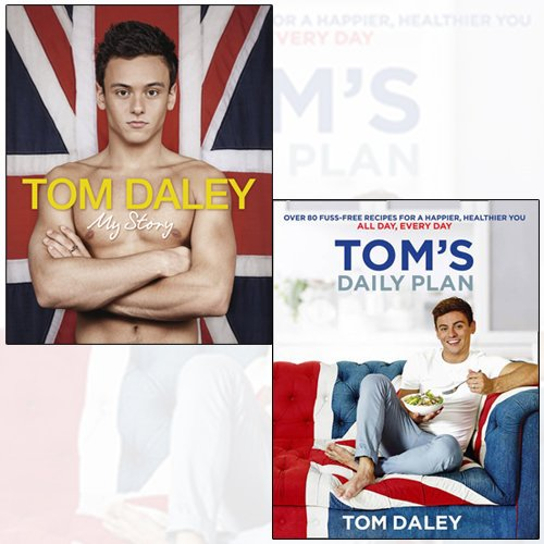 Tom Daley 2 Books Bundle Collection (Tom's Daily Plan,My Story[Hardcover])