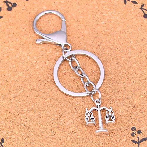 YCEOT verchroomde metalen sleutelhanger beste geschenk Weegschaal sleutelhanger sleutelhanger