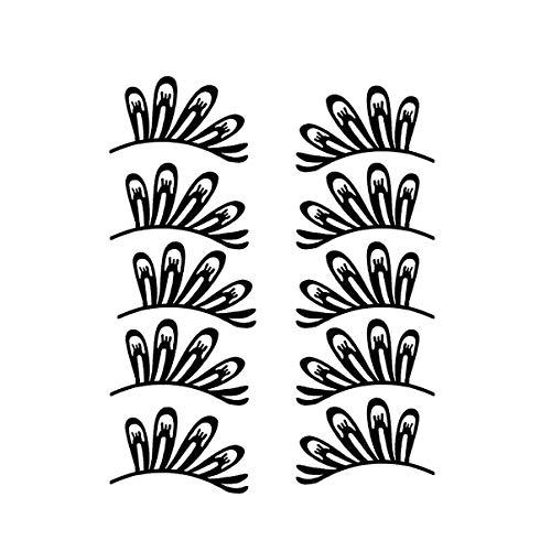Lurrose papier de noël faux cils dentelle papier noir cils costume faux cils pour le parti cosplay 5pair (type3)