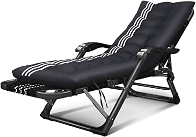 0abb50bd61 YXX- Folding Garden Chairs Recliner with Comfort Headrest, Zero Gravity  Chair with Removable Cotton