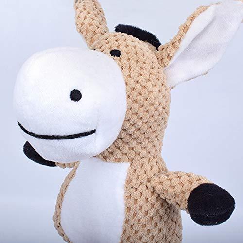 KEKEDA Huisdier Geluid Speelgoed Ezel en Olifant vorm Ontwerp Kauwspeelgoed voor Kauwen, Spelen, Volwassen Honden en Puppies, Ezel