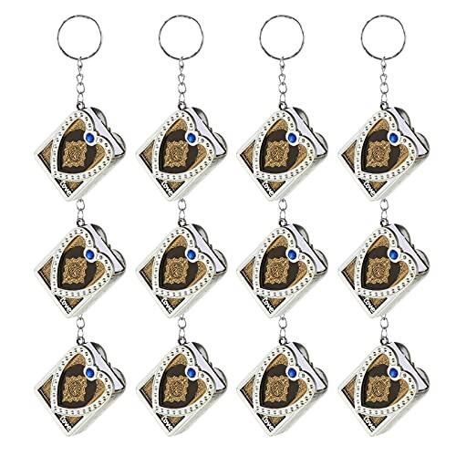 Amosfun 12Pcs Islamischen Muslimischen Keychain Mini Buch Keychain Miniatur Buch Schlüsselring Koran Buch Schlüsselring Religion Anhänger Ornament Handtasche Charme Handtasche Charme