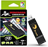 Brook Wingman XB Support PS5 Xbox Series X/S PS4 PS3 Xbox One Xbox 360 Xbox Elite 1 Xbox Elite 2 Switch Pro Controllers on Xbox Series X/S Xbox One Xbox 360 Xbox Adapter Turbo and Remap
