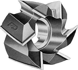 Width 2.5 mm Cobalt High Speed Steel Hole Diameter 22 mm Dormer D76363.0X2.5 Side and Face Milling Cutter Bright Coating Diameter 63 mm