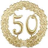 """Jubiläumskranz """"50"""", gold"""