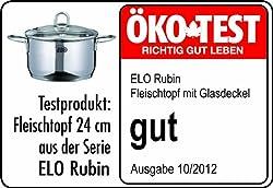 ELO Kochtopf Rubin Set Rubin 5-teilig Edelstahl 18/10