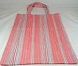 Einkaufstasche Stoffbeutel rosa blau Streifen weiß gestreift Tasche handmade