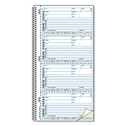 Rediform Self-Stick Telephone Message Book, 5 1/2 x 2 3/4, Two-Part, 400 Sets/Book by Rediform