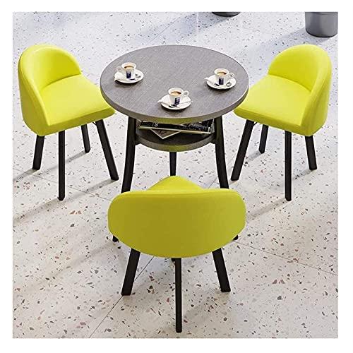 Mesa de comedor de mesa de ocio de cocina Set para cocina o decoración del hotel, mesa de recepción sencilla y silla de combinación de oficina Oficina Negociación de ocio Tabla Nórdica 1 Tabla 3 Silla