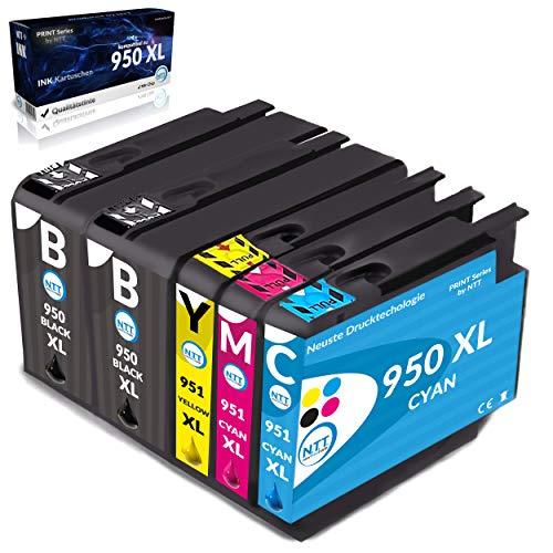 NTT 5 XL Cartuchos de tinta de repuesto para HP950XL 951XL 950 951 Multipack de cartuchos de tinta compatibles con HP Officejet Pro 8600 8610 8620 8630 8100 8616 8615 276DW 251DW 8660 8640 8620 862 5.