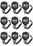 FomaTrade Stopwatch, Pack of 10pcs/lot Digital Handheld Multi-Function Professional Electronic Chronograph Sports Stopwatch Timer Stop Watch (10)