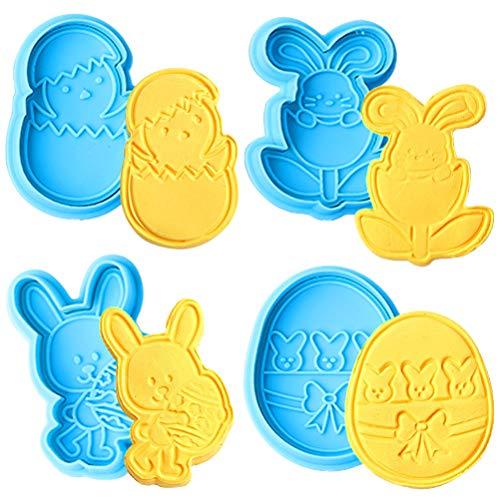 Osterhasen-Ei-Kuchen-Formen 3D-Silikon-Schokoladen-Formen DIY Backen Backformen Süßigkeiten Herstellung von Formen Silikon Formen