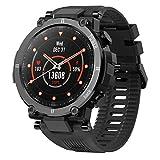 JXILY Smartwatch, Reloj Deportivo Inteligente con Cuerpo Ultraligero Y Resistente, BateríA de 30 DíAs de DuracióN, Ip68 Resistente Al Agua, 20 Modos Deportivos, Rastreador de Actividad
