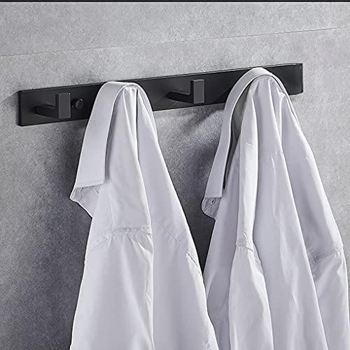 Towel Hooks Door, Coat Hooks Wall Mounted, Bathroom Towel Hook, Modern Coat Rack, Space Aluminum Toilet Hook, Hanging Towel Hook, Door Back Hook, Wall Hook Rack (Matte Black)