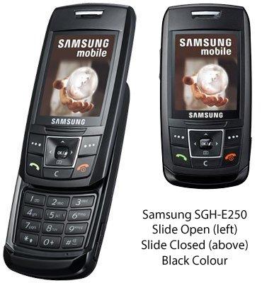 Samsung E250 - Telefono cellulare Bluetooth con design Slide, colore: Nero