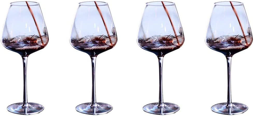Wine Glasses Popular brand in the world Crystal Red Set Win Stemmed of 4 Clear Special sale item