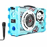 Altavoz Karaoke con Micrófono Bluetooth Portátil Inalámbrico USB Tarjeta TF Recargable con...