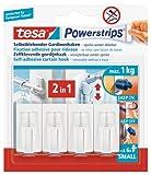 Tesa 58034-00007-01 Spar-Set 2x: Powerstrips Vario-Gardinenhaken weiß WEISS Länge/m: 7,00