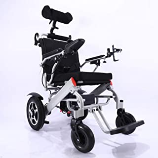 Silla de ruedas eléctrica Aleación de aluminio Material Inteligente Ultra Portátil Poder Duradero Silla de ruedas Material Plegable Doble Motor Alta Potencia para personas mayores con discapacidad