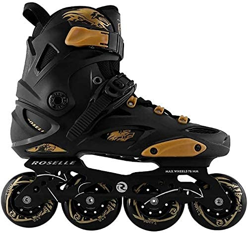 ローラースケートインラインスケートスケート女性のためのスケート、快適な耐久のインラインローラースケート、大学生初心者屋外スケート、ファンシーシューズローラースケート// 58 BY CHJBD (Color : Black, Size : 6.5)