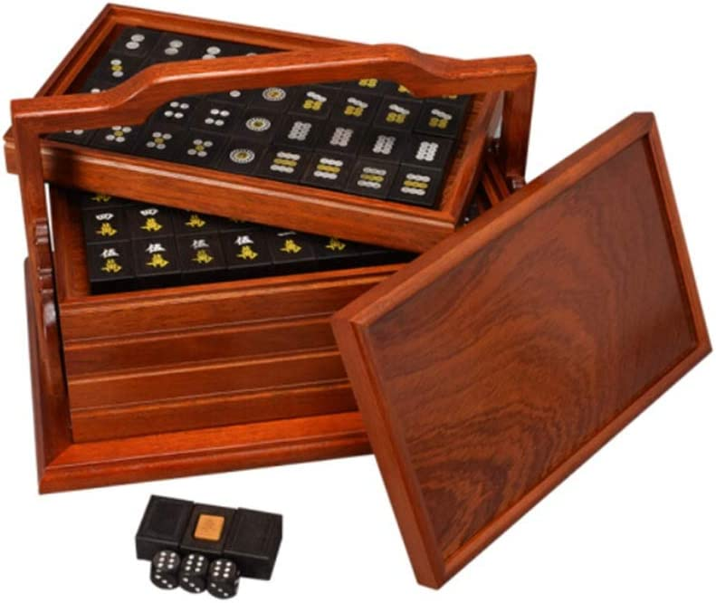 Special Campaign Cheap LMZZ Ebony Mahjong Noble Home Toy Collecti Entertainment Leisure
