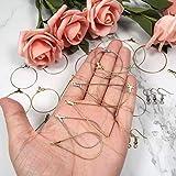 TOAOB 280pcs Kit de Loisirs créatifs de boucles d oreilles Or k Blanc k avec Crochets de Boucles d oreilles et Fermoirs dos apprêt et Pendentifs pour Fabrication de Bijoux