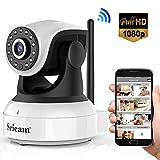 Sricam Cámara IP 1080P, Cámara Vigilancia WiFi Interior Inalámbrico, con Micrófono y Altavoz, Visión Nocturna, Detección de Movimiento, Seguridad para Bebé y Mascotas, Compatible con iOS, Android