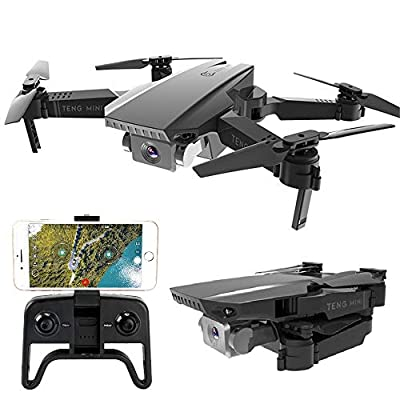 Teeggi M71 Foldable Drone with Camera for Beginners 1080P HD Live Video Drones for Kids, WiFi FPV RC Quadcopter with Optical Flow Positioning, Gesture Control, Altitude Hold, Headless Mode,APP Control