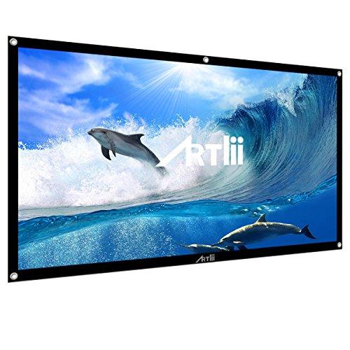 Mini Proiettore Portatile, Artlii LED Proiettore 2000 Lumens,HDMI USB VGA AV SD,Per Intrattenimento Film