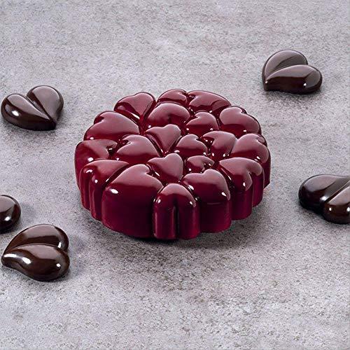 FERS -Moule à gâteau en Silicone | Moule Rond avec Couture en cœur d'amour pour la Cuisson de la Saint-Valentin, Moule en Mousse pour décoration de gâteau de Mariage (Color : A)