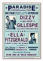 ポスター デニース ローレン Dizzy Gillespie and Ella Fitzgerald at Paradise 1947