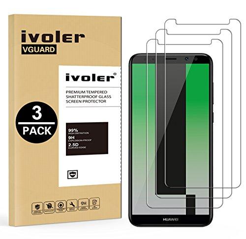 iVoler [3 Pack] Pellicola Vetro Temperato per Huawei Mate 10 Lite, Pellicola Protettiva, Protezione per Schermo