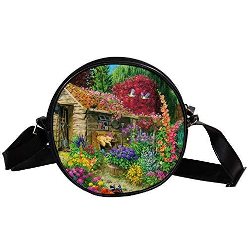 Bennigiry Garden Shed - Bolso de mano para mujer, diseño de flores, multicolor