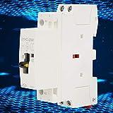 【𝐕𝐞𝐧𝐝𝐫𝐞𝐝𝐢 𝐍𝐨𝐢𝐫】Contacteur Jour Nuit, Contacteur AC, 2P 25A 220V 50Hz DIN Rail Contacteur domestique AC avec interrupteur de commande manuelle(2NO-1)