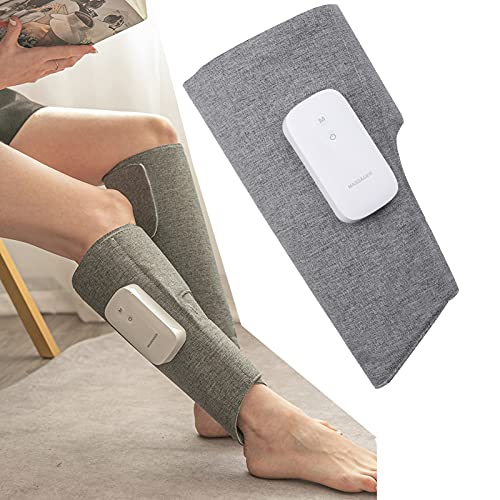 Massaggiatore per gambe a compressione d aria per circolazione, 3 modalità 2 Intensità avvolgimenti per polpacci Massaggio per il rilassamento muscolare con controller portatile (1)