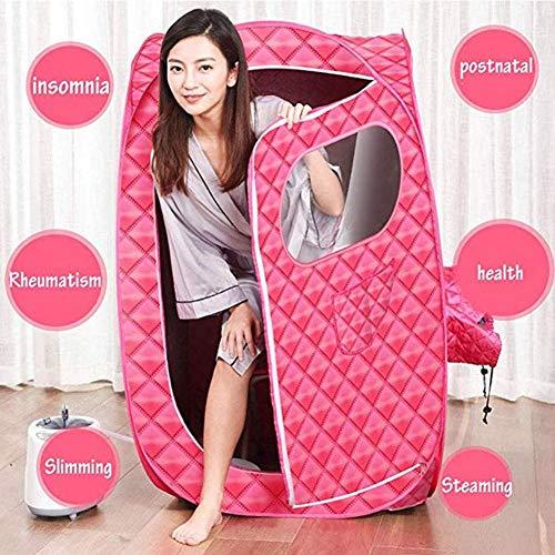 LONGLAN 2L SPA Dampfsauna Maschine, Fernbedienung Temperatur 9 Ebene Persönlich Zuhause Saunazelt Zum Gewichtsverlust Reduzieren Stress Und Ermüden