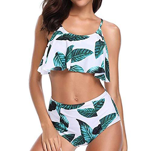 Deelin Zomer Beachwear Badpak voor dames, modieus, zacht, bedrukt, badpak, hoge taille, tankini, Beachwear badpak, 2 stuks