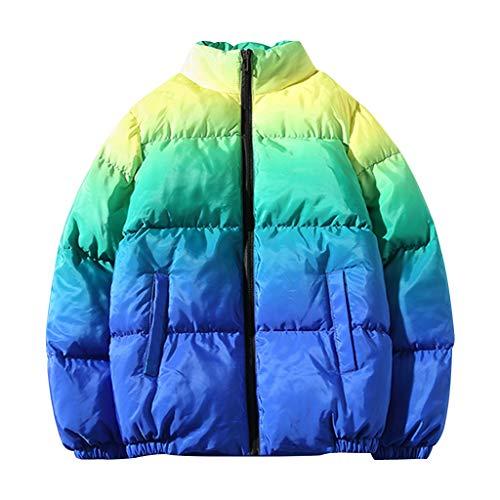 Briskorry Herren Daunenjacke Daunenmantel Winter Jacke Outwear Täglichen Coat Mantel Parka Warme Gefüttert,Einfarbiger Warmer Baumwollanzug Lässig Reißverschluss Langarm Mantel