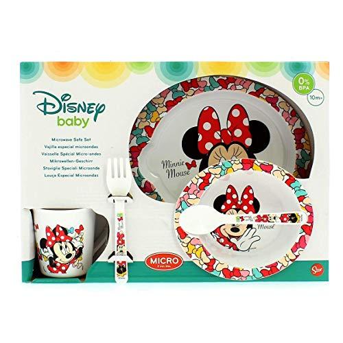 Stor Disney ST-45379 Mikrowellen-Set für Babys, 5-teilig, Mehrfarbig, mittel