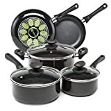 Ecolution Artistry Nonstick Cookware Set Pots and Pans, Dishwasher Safe, Scratch Resistant, With...