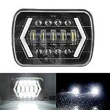 LED Fari Anteriori 7 Pollici 300W Faro Anteriore per Auto, Hi/Lo Fascio Beam, LED Quadrato Lampada Halo per J-eep Wrangler Cherokee XJ
