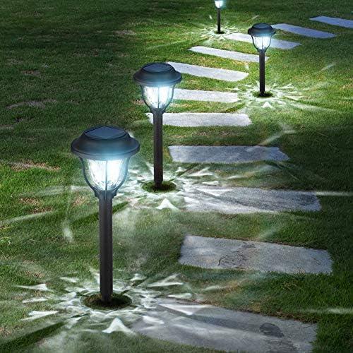 10 Pack Solar Lights Outdoor Bright Solar Garden Outdoor Lights Waterproof Solar Powered Pathway product image