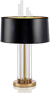 JEONSWOD Lampe de table en verre Lampe de table Lampes de table avec abat-jour Lanterne Veilleuse brossé fer for le salon