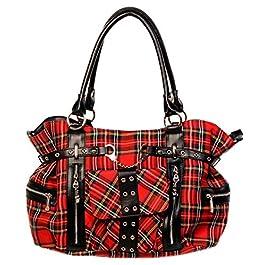Banned Apparel rockabilly écossais/à carreaux sac à main bandoulière