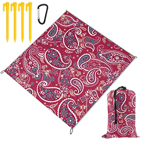 Check Out This Hucuery Picnic Blanket 59 X 57 in Seamless Paisley Pattern Foldable Waterproof Extra ...