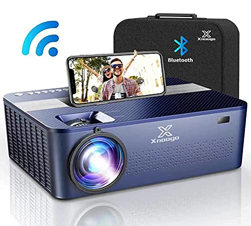 """XNoogo Native 1080p Projector with 5G WIFI Bluetooth,9500 Lumens,HD 4K ,450""""display Movie Projector for Support 4K & Keystone & Dolby & Zoom.Compatible with Phone,PC,TV Box,PS4"""