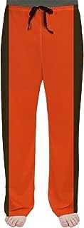 ArtVerse NFS Cleveland Football Stripes Men's Pajama Pants, Medium, Orange and Brown